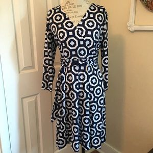 INC INTERNATIONAL CONCEPTS BELTED DRESS SIZE M EUC